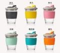 MoChic摩西咖啡杯定制創意禮品隨手玻璃杯帶蓋