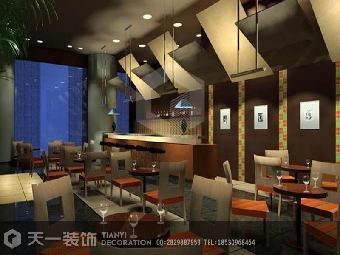 商丘周口饭店餐厅装修设计效果图案例