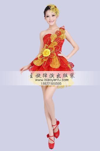 天津演出服装租赁拉拉啦啦花球学校运动会舞蹈