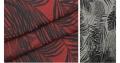 高川潮流色织连衣裙植物提花面料