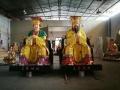厂家供应寺庙摆件树脂玻璃钢贴金彩绘玉皇大帝王母娘娘