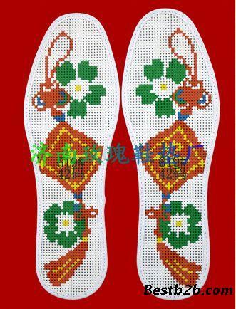 十字绣鞋垫图案图解针孔十字绣鞋垫图案