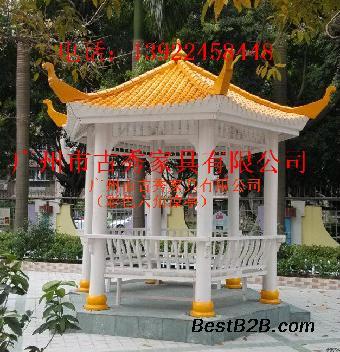 新农村绿化景观六角亭子,中式防腐木亭子