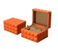 新百特厂家定制高档手表盒黑色钻石面水滴漆木制手表盒