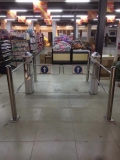 呼和浩特超市入口閘機 超市入口單向擺閘