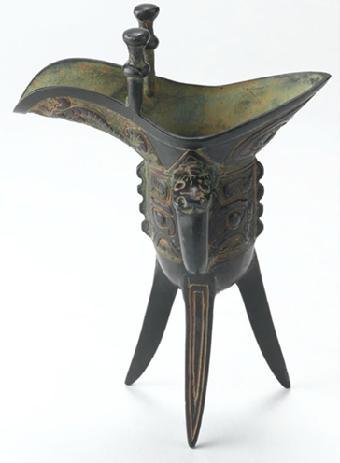 汉代青铜爵杯的纹饰特征