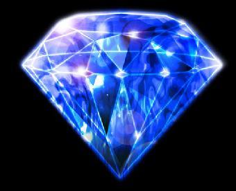 蓝色立体钻石背景素材