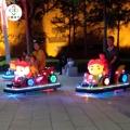 公園電動玩具車,豬豬俠碰碰車全身發光驚艷全場