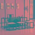 成?#22841;?#20013;式餐边柜 现代简约禅意实木门厅装饰玄关柜酒