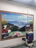 高清室内外墙体喷绘机 新农村广告语录宣传图