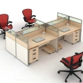 重慶員工電腦桌屏風工位職員電腦辦工桌家具
