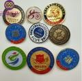 学校礼品纪念章订制 金属奖牌定制 异形胸章定制