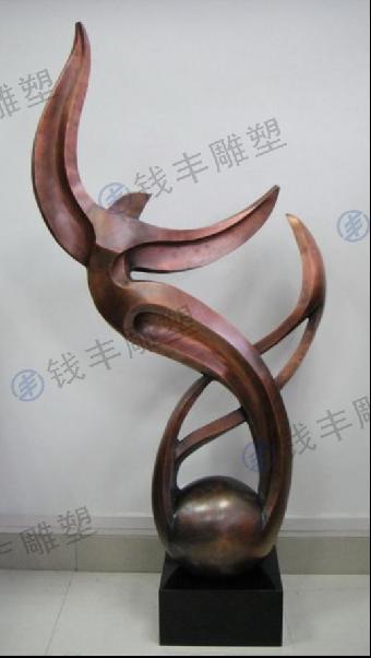 金属异形雕塑制作过程