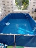 小型可移動支架帆布養蝦水池