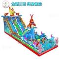 庙会儿童充气淘气堡卡通气垫蹦蹦床游乐玩具直售工厂