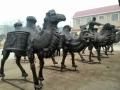 鑄銅雙峰駱駝雕塑 純銅動物雕塑訂制