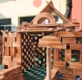 戶外木質游樂設備 兒童戶外大型防腐炭燒積木 大型防