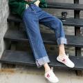牛仔褲女地攤貨工廠直銷尾貨幾元批發棉彈女牛仔褲批發