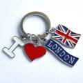 创意金属钥匙扣心形钥匙扣英文暗恋你钥匙扣情侣钥匙扣