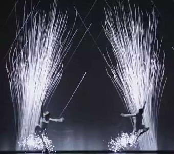 外滩上海大酒店极魅之光v油画现场油画开场震撼视频水墨视频图片