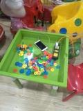 石家莊快樂時光批發兒童方形積木桌