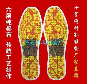 鞋垫图案有百余种,在原有花草