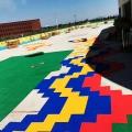 天津南開彩色拼裝地板施工塑料地板廠