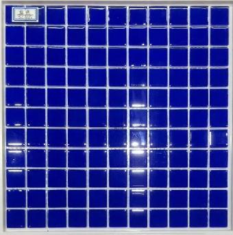 深蓝色玻璃水晶马赛克批发厂-拼图马赛克供应商