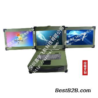 15寸3屏机箱工业便携机工控一体机定制军工电脑加固