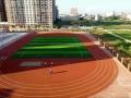 廣西塑膠跑道廠家施工學校13mm透氣型塑膠跑道造價