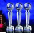 2020年度表彰大会奖品定做,西安水晶奖杯证书现货