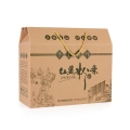 海鲜、水果、粉条彩印瓦楞纸箱 驻马店食品专用周转箱