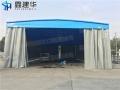 批发电动悬空棚保温篷不锈钢推拉蓬环保喷漆房