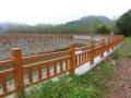 漯河美丽乡村建设下采购的仿木栏杆成色竟然这么好