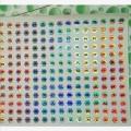 素面镭射不干胶 激光易碎贴纸 镭射彩虹膜定做