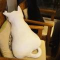 创意靠枕猫咪公仔毛绒玩具定制加logo