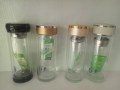 加厚双层玻璃杯定制商务杯子订定做玻璃礼品杯印字L