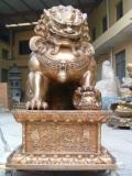 铜狮子_铜雕狮子_铜狮子定做厂家