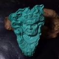 绿松石精雕关公