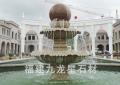 大型石材风水球 欧式石材喷泉 大理石风水球雕塑