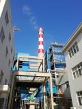 拆除55米砖砌烟囱现场图片