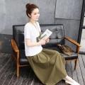 夏季大阪大码中老年妈妈麻棉绣花上衣套装连衣裙批