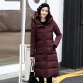 广州站西服装羽绒服外贸品牌女装棉衣中长款羽绒服批发