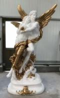 兰州定制大型玻璃钢西方人物雕塑树脂欧式别墅摆件