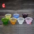 石家庄琉璃八吉祥净水杯佛堂供具批发 杭州佛教圣物