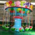 西瓜款飞椅图片 游乐设备厂家