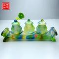 佛教供水杯琉璃供水台供水杯摆件定制