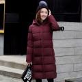 百色市韩版女装学生面包服羽绒服中长款轻薄款冬季新款