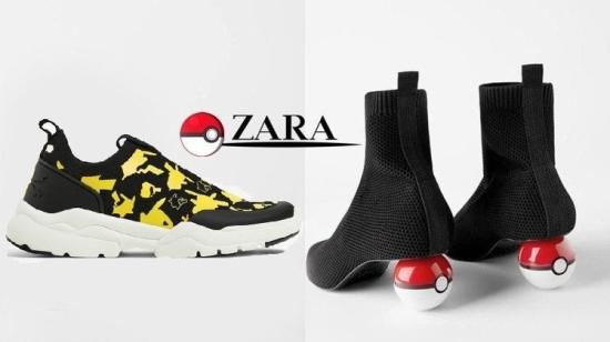 ZARA联名宝可梦推鞋款 精灵球应声踩脚底
