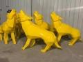 上海塑景工厂直销不锈钢切面动物雕塑酒店公园景区摆件